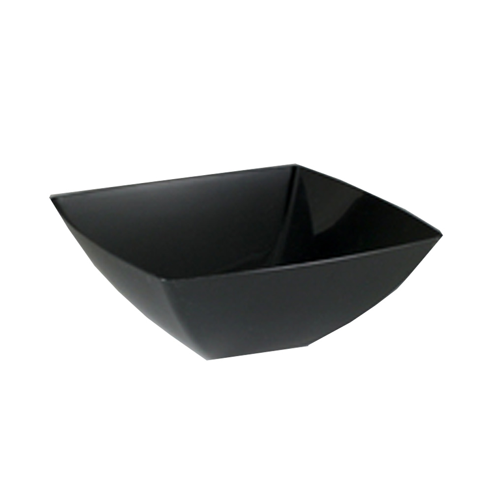 Maryland Plastics Black 128oz Square Bowl SQ81281