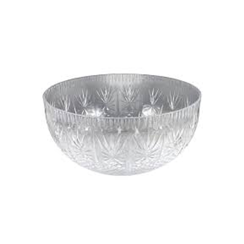 Maryland Plastics Clear 12qt Crystal Cut Bowl     MPI03206