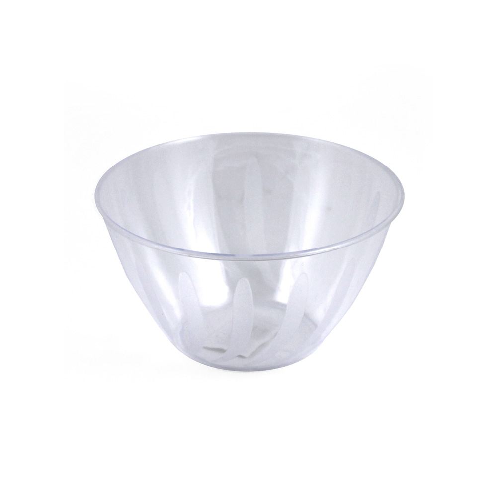 Maryland Plastics Clear Small Swirl Bowl MPI90853