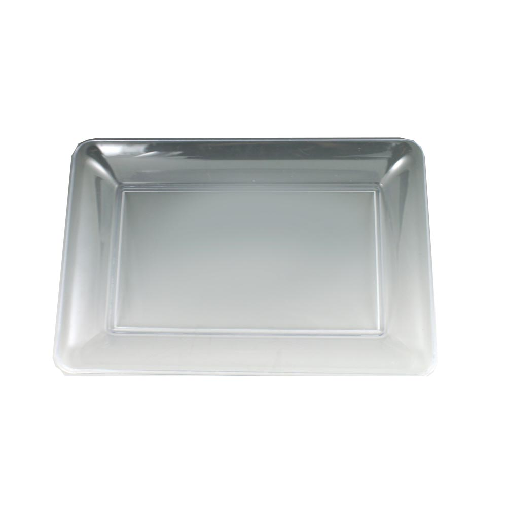 "Maryland Plastics Clear 10""x14"" Sovereign         Rectangular Tray MPI10146C"