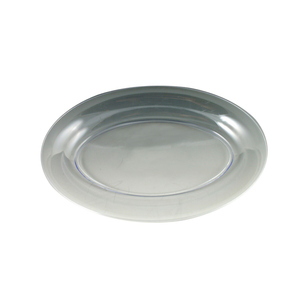 "Maryland Plastics Clear 11""x16"" Sovereign Oval    Tray MPI11166C"