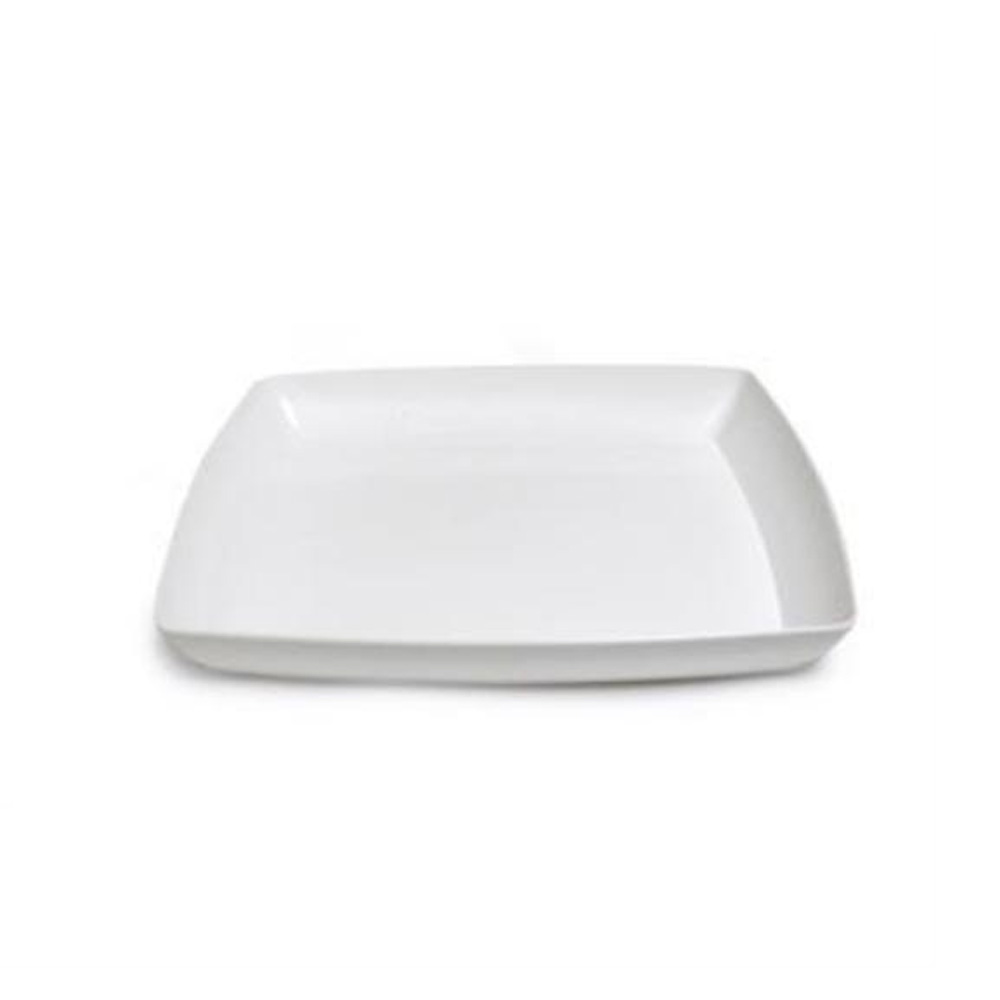 "Maryland Plastics White 12"" Simply Squared Tray   SQ12120"