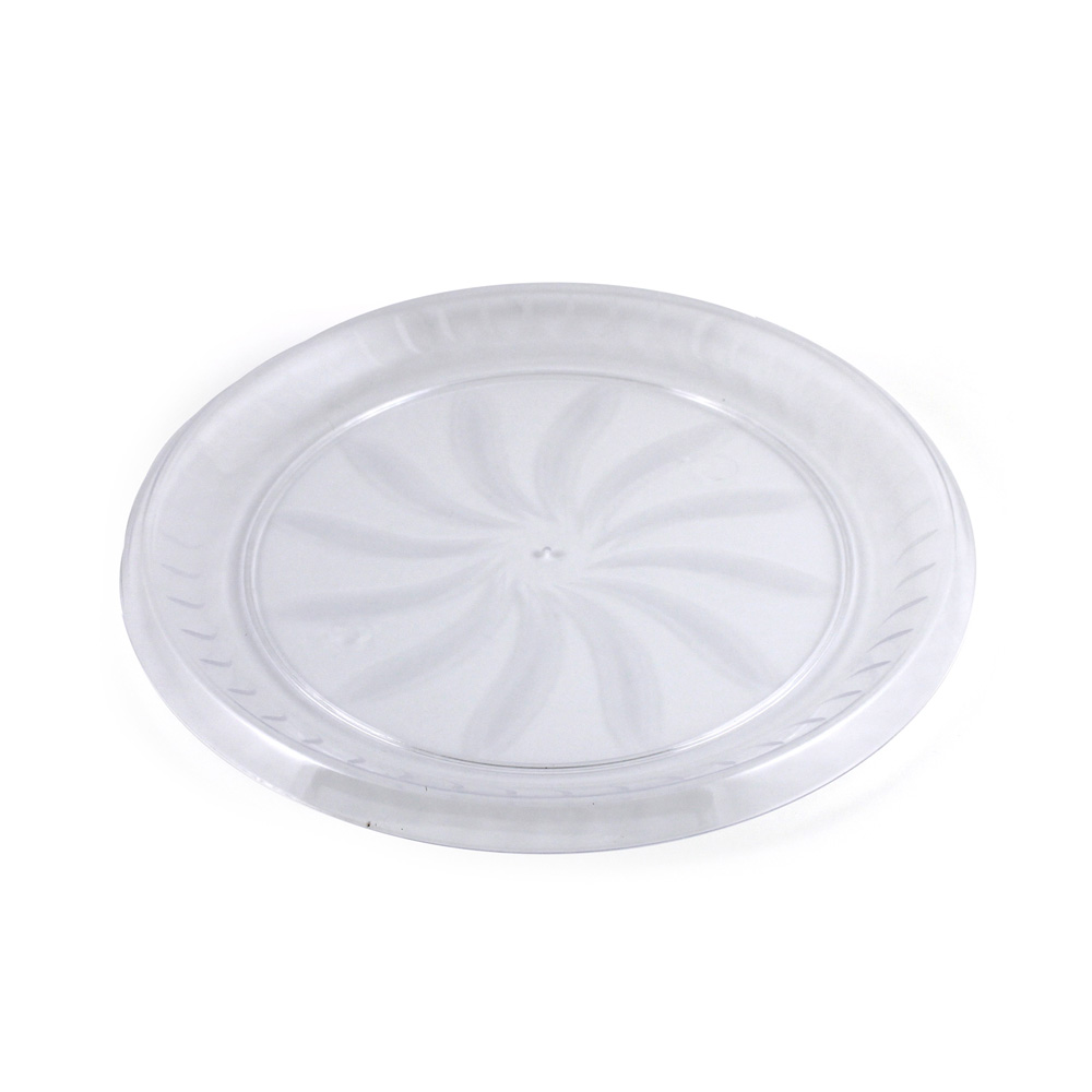 "Maryland Plastics Clear 12"" Swirl Tray MPI72126"