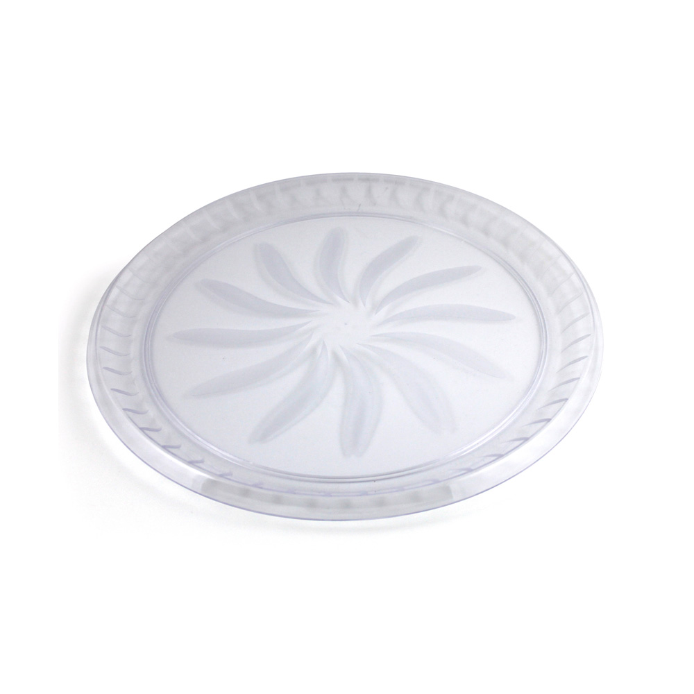 "Maryland Plastics Clear 16"" Swirl Tray MPI72930"