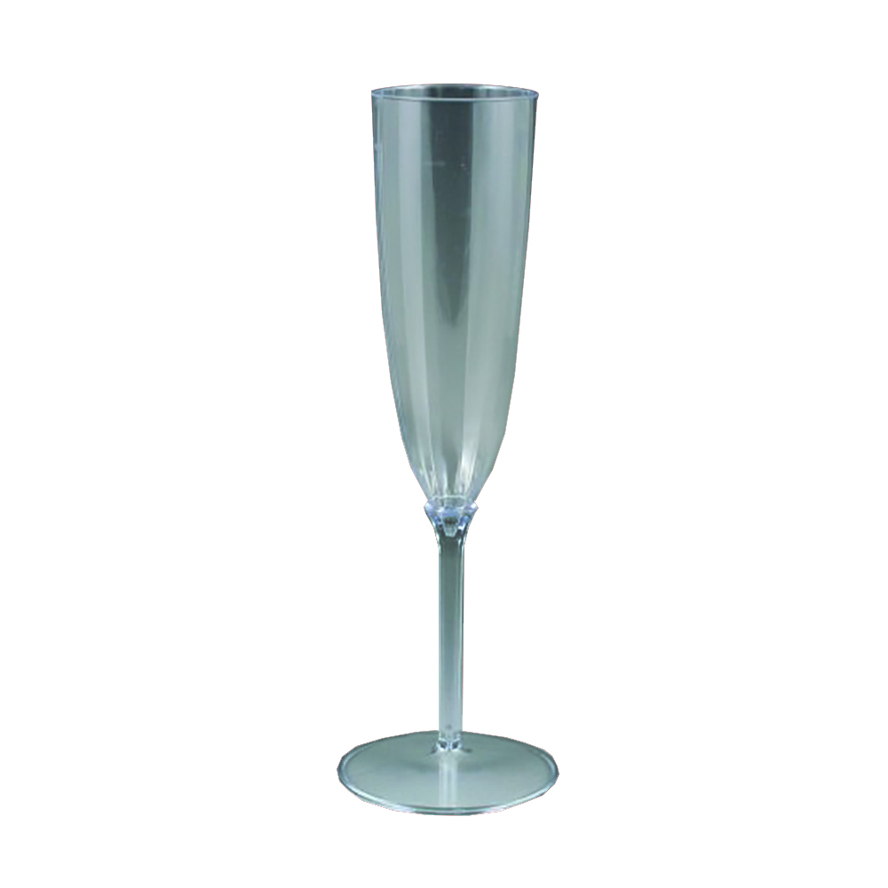 Maryland Plastics Inc. - Lumiere Clear 5 oz. 1 piece 8 Pack Plastic Champagne Glass LU00105