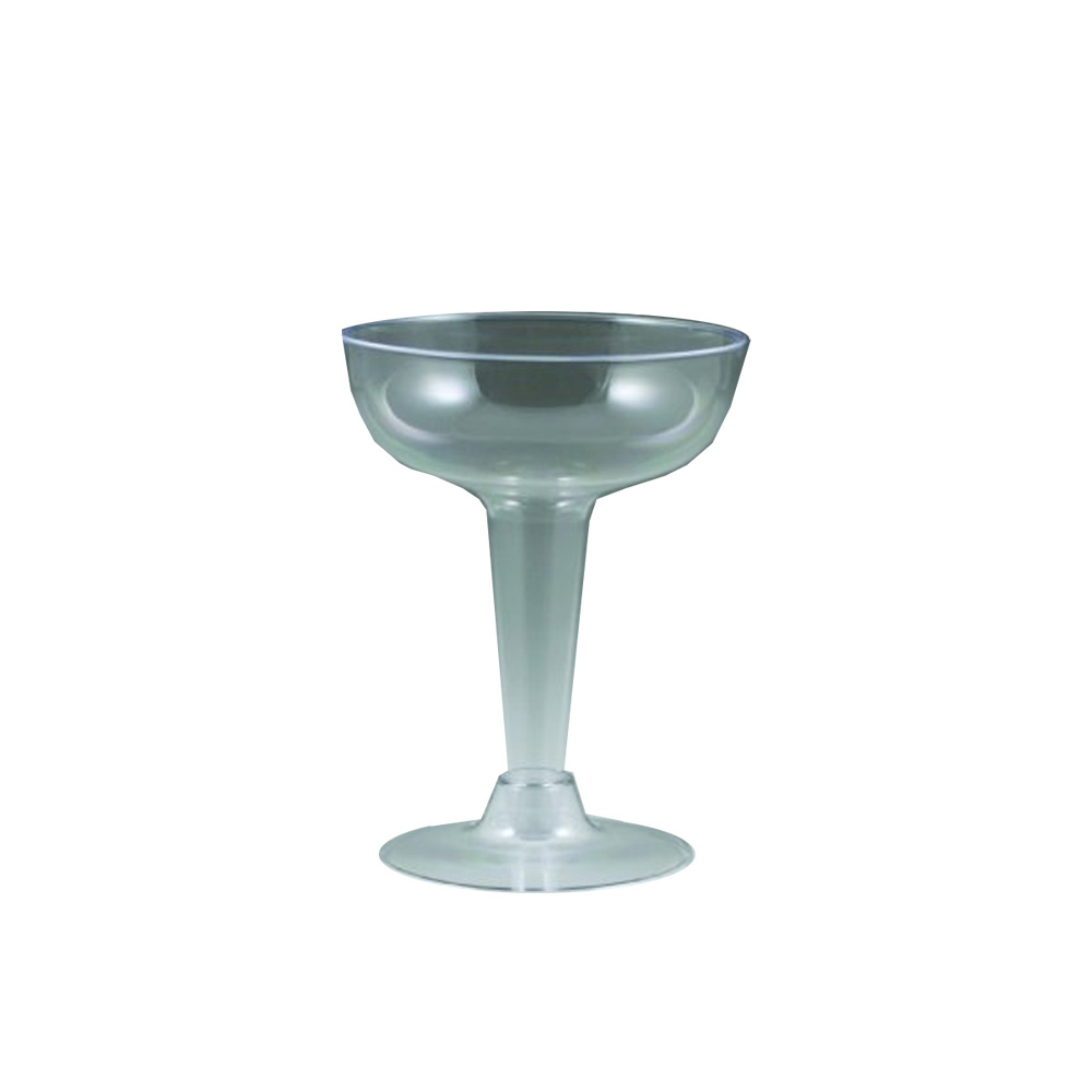 Maryland Plastics Inc. - Sovereign Clear 4 oz. 2 piece Plastic Champagne Glass MPI20400