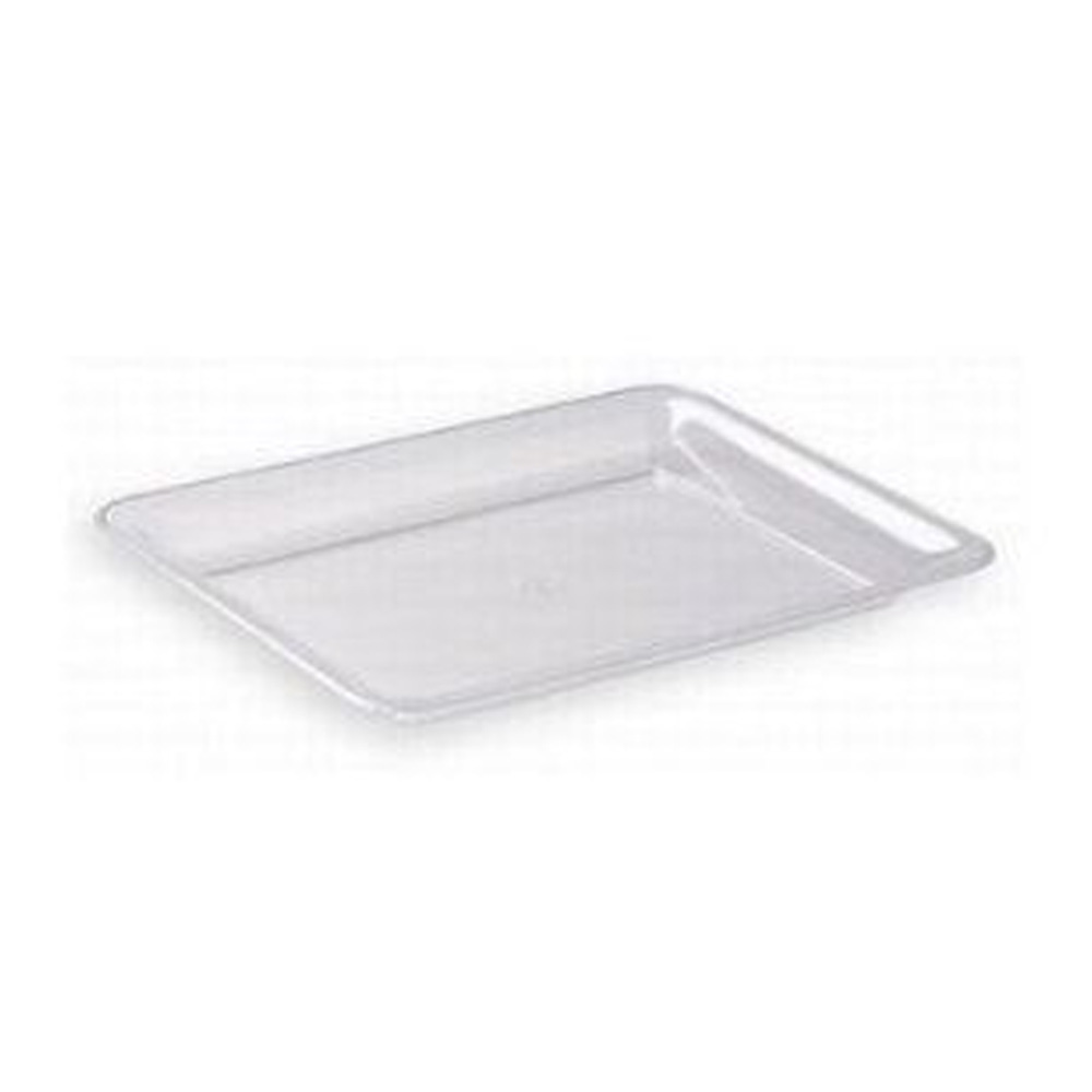 "Maryland Plastics Clear 12""x18"" Sovereign         Rectangular Tray MPI12186C"