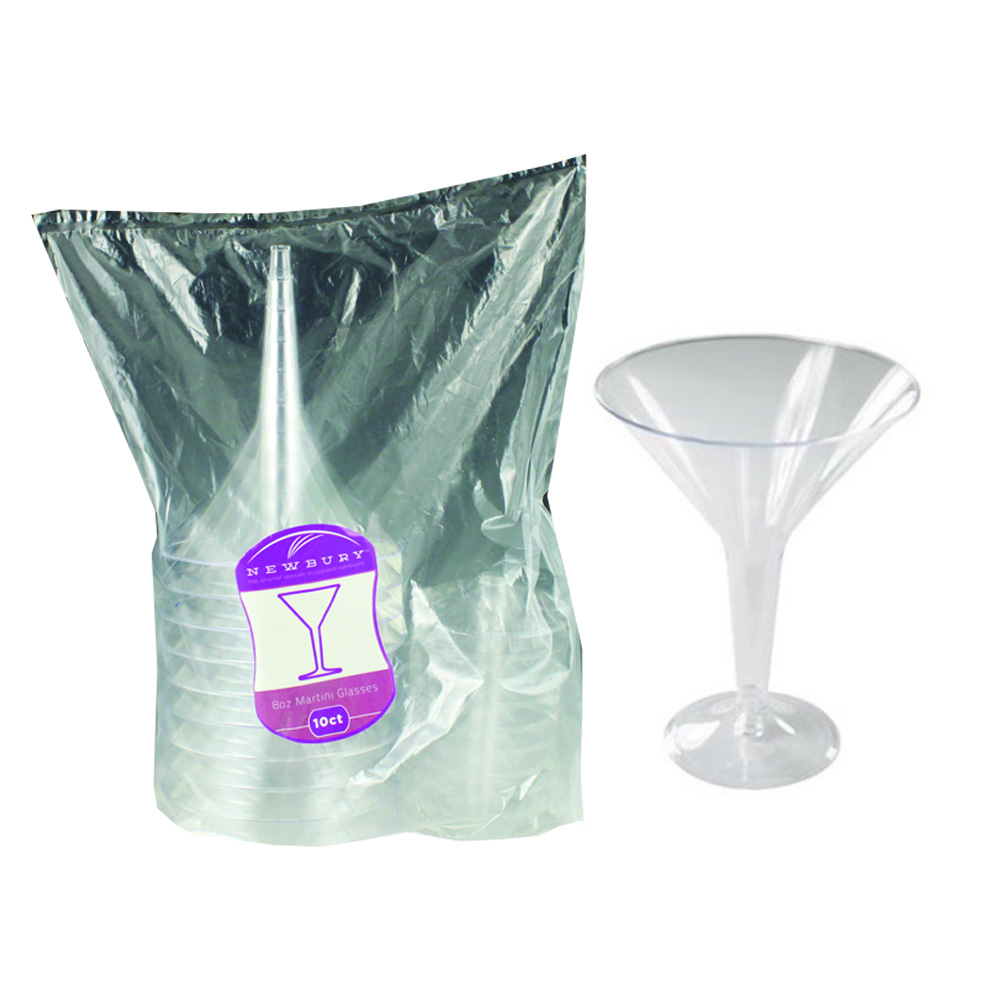 Maryland Plastics Inc. - Newbury Clear 8 oz. Plastic Martini Glass NC20316