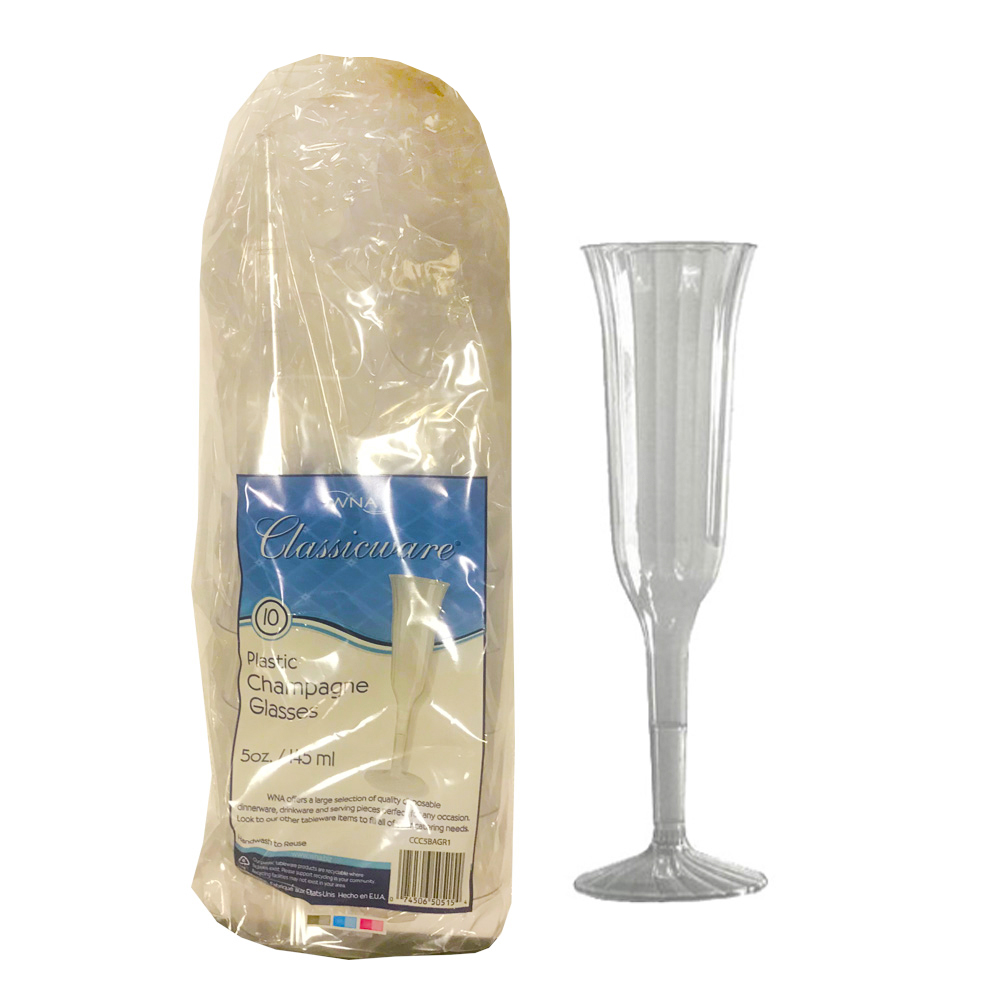 Comet Clear 5oz 2pc Champagne Flute CCC5120