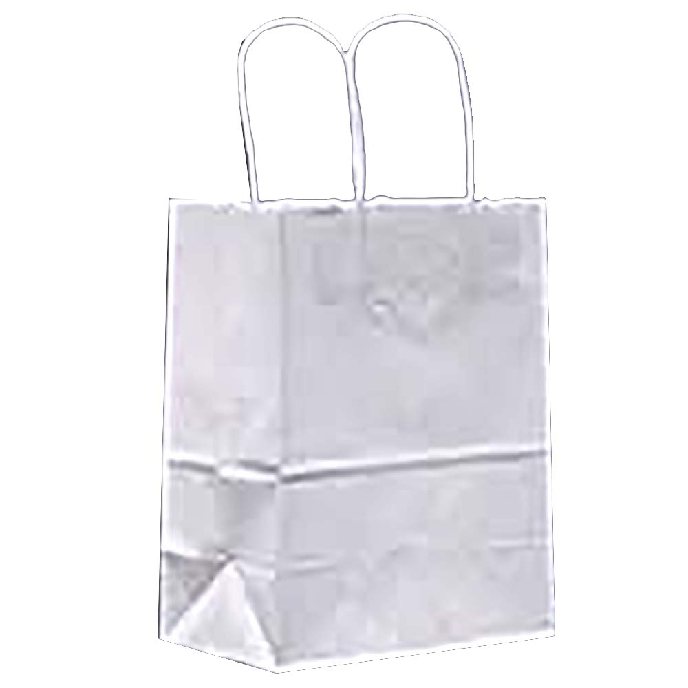 "Duro Bag Mfg. - White 13""x7""x17"" Paper Supermart Shopping Bag 84642"