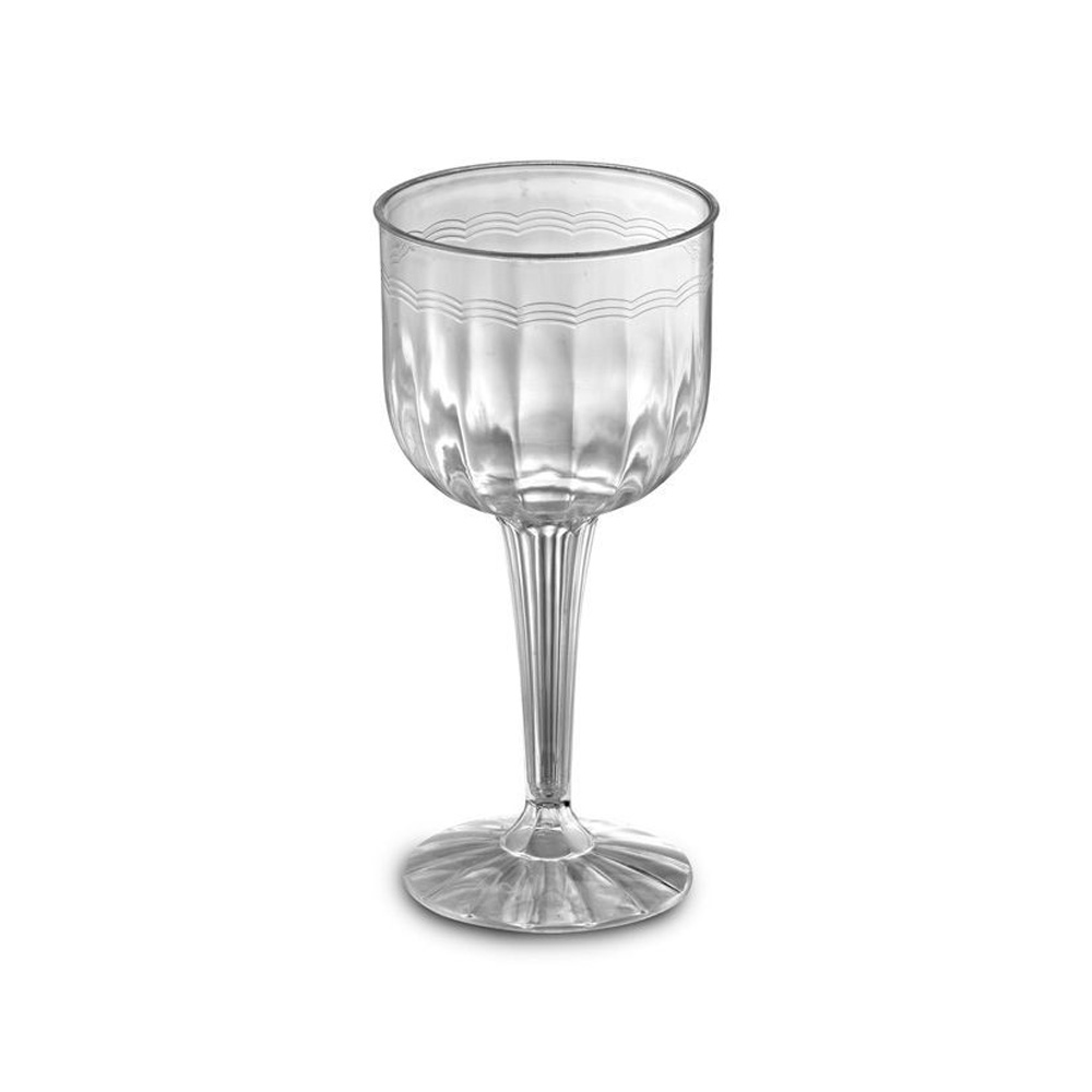 EMI Yoshi Inc. - Resposables Clear 8 oz. Plastic Wine Goblet EMI-REWG1P8
