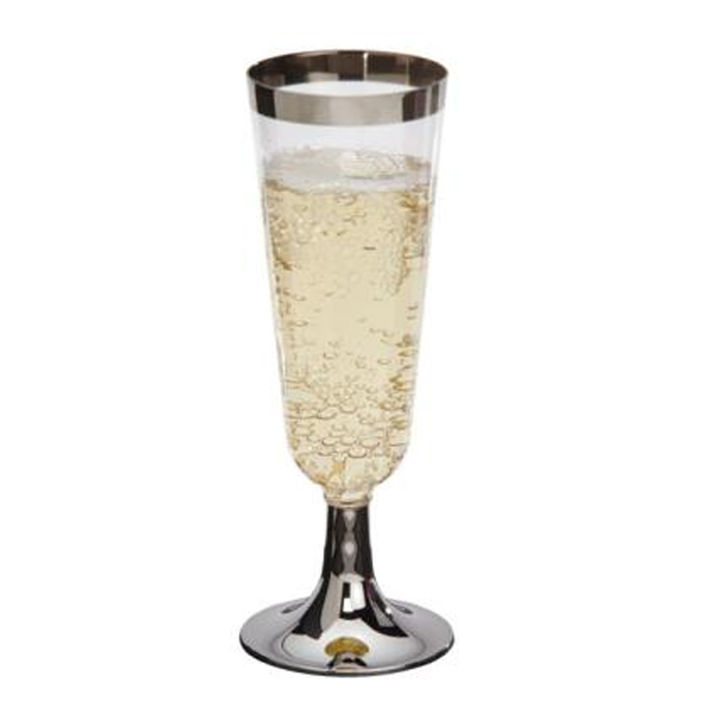 Comet Clear 5oz Reflections 2pc Plastic Champagne Flute RF5CHMP