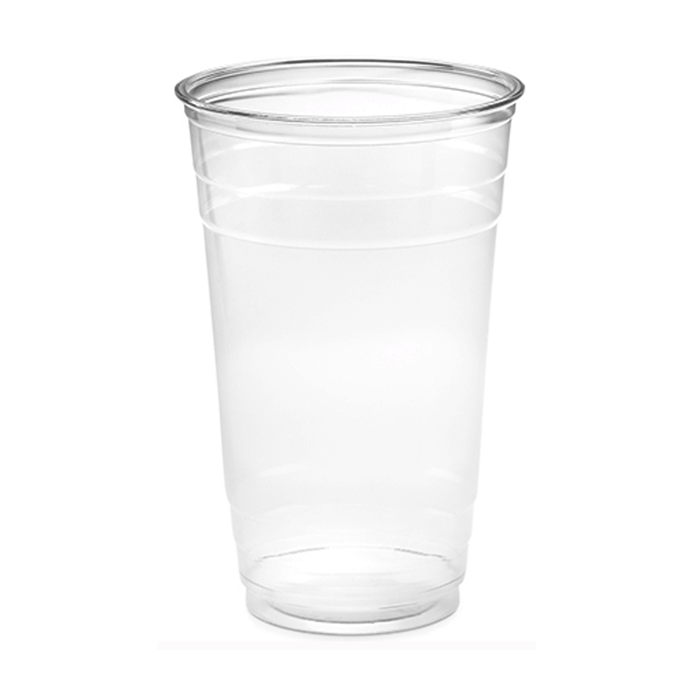 Amhil Clear 24oz Plastic Pet Drink Cup APC24