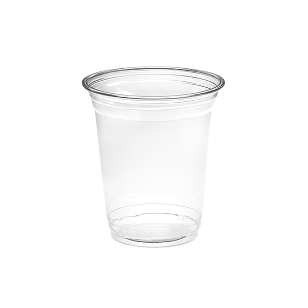 Amhil Clear 12oz Plastic Pet Drink Cup APC12