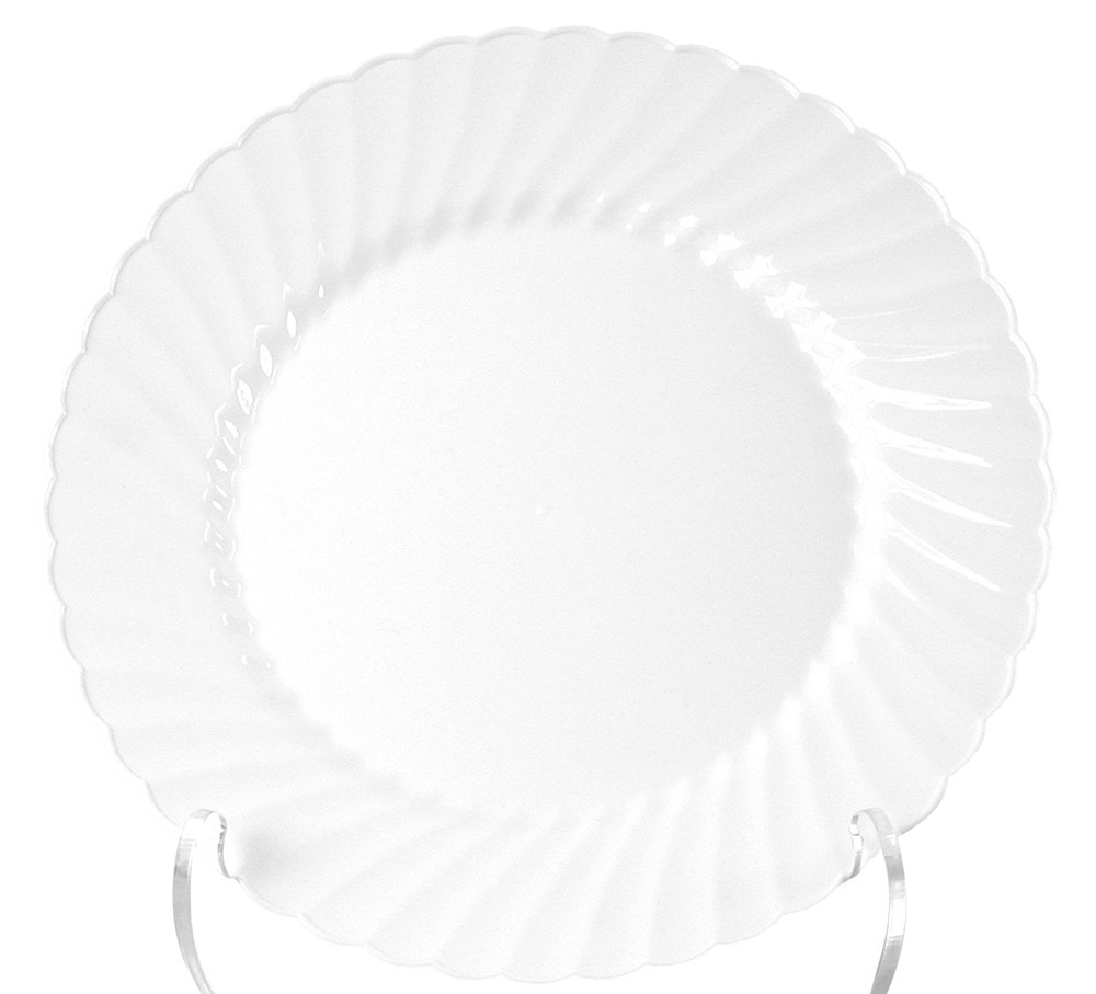 "Comet Clear 7.5"" Classicware Round Plastic Plate  RSCW751512"
