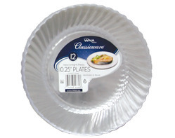 "Comet Clear 10"" Classicware Round Plastic Plate   RSCW101212"