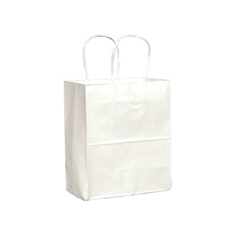 "Duro Bag Mfg. - White 8""x4.5""x10"" Paper Tempo      Shopping Bag 84598"