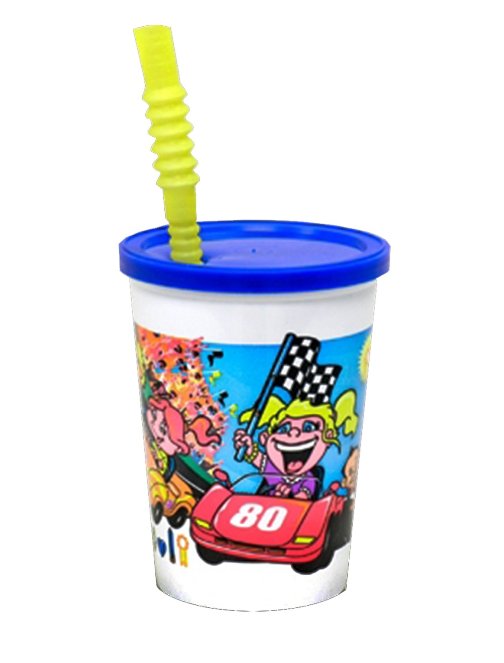 Comet Kids & Cars Print 12oz Plastic Cup With Lid And Straw VK3CARS