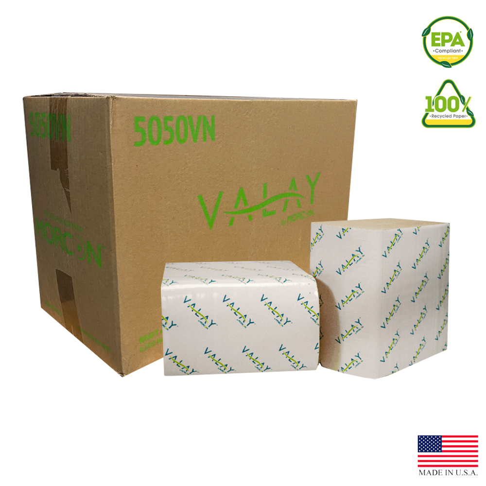 "Morcon, Inc. - Valay Kraft 6.3""x8.85"" 1 ply       Interfolded Paper Napkin 5050VN"
