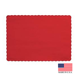 "Superior Laminators Red 10""x14"" Placemat PM125"