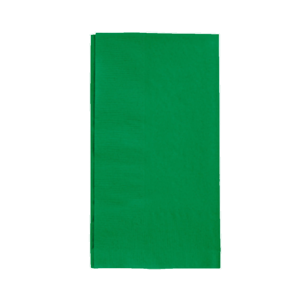 "Hoffmaster Green 15""x17"" 2ply Poly Pack Dinner Napkin 304CG"
