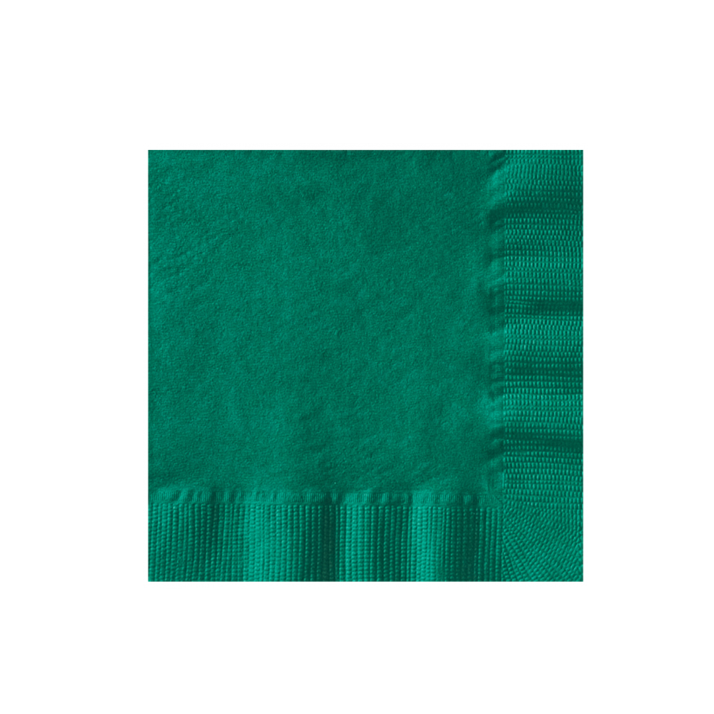 "Hoffmaster Kelly Green 10""x10"" 2ply Beverage      Napkin 10432"
