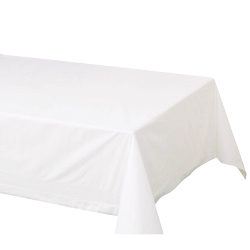 "Hoffmaster White 54""x108"" 2ply Cellutex Tissue Table Cover 210130"