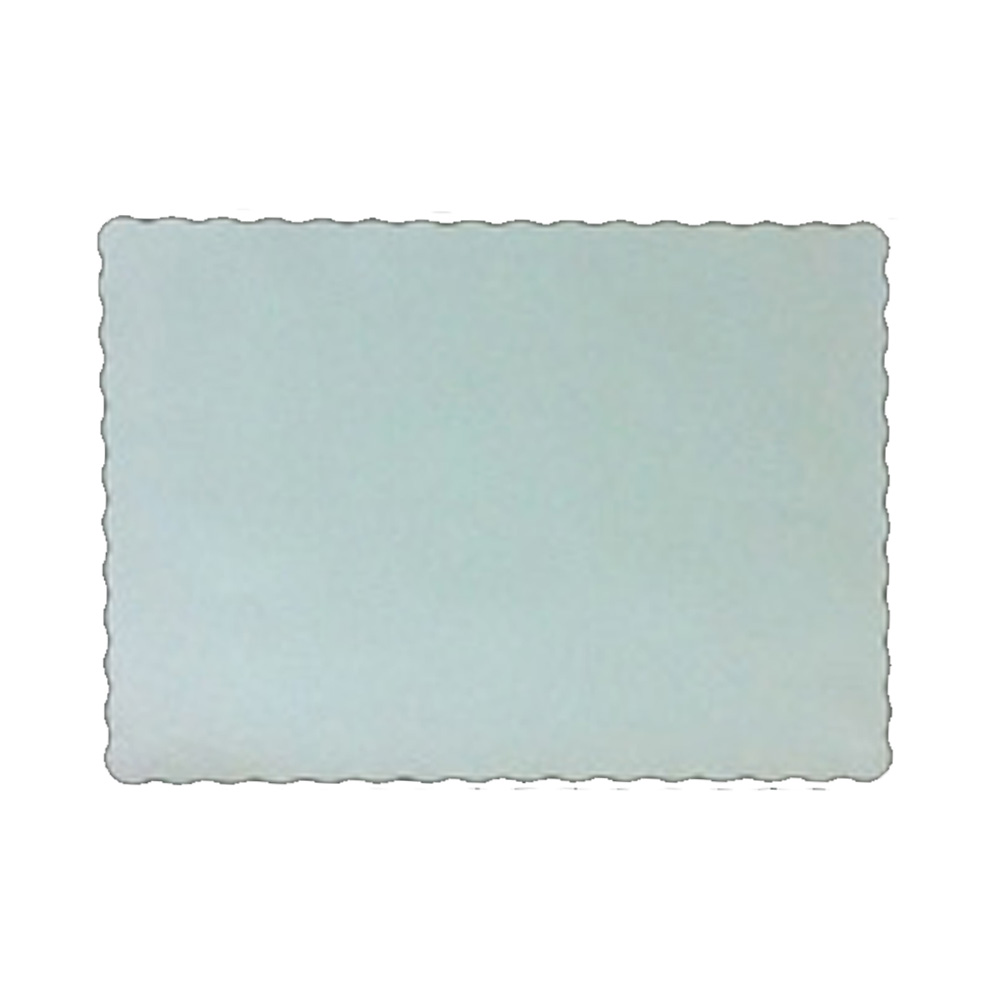 "Easy Elegance - White 10""x14"" Scalloped Paper     Placemat W1014PM"
