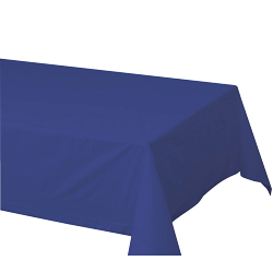 "Hoffmaster Navy 54""x108"" 2ply Cellutex Tissue Table Cover 220622"
