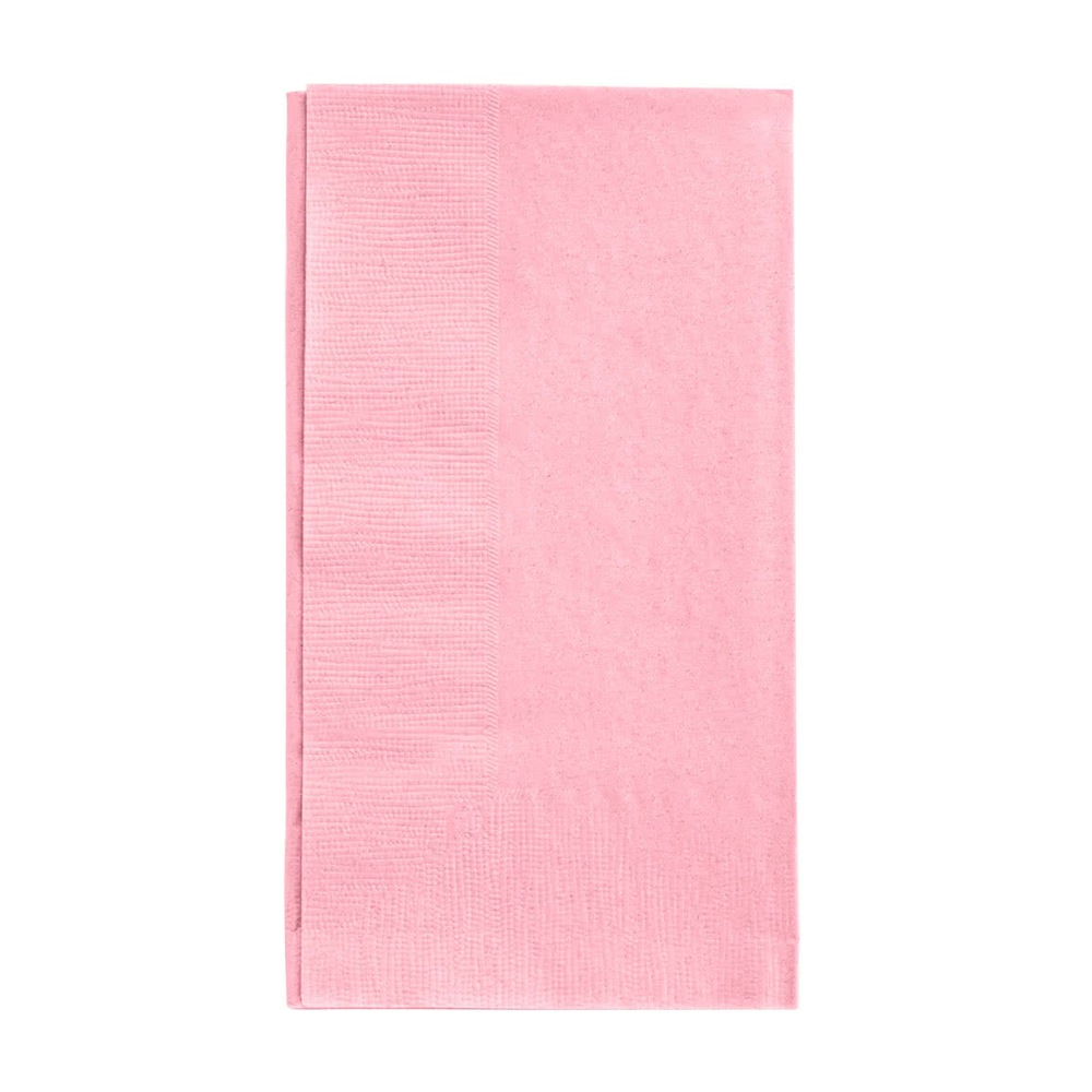 "Hoffmaster - Pastel Pink 15""x17"" 2 ply Poly Pack Dinner Napkin PKDINNAP"