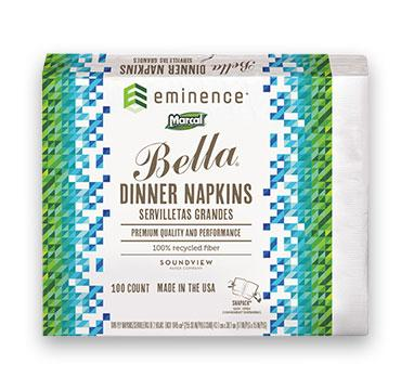 Soundview Paper White 2ply Bella Dinner Napkin 06410-01
