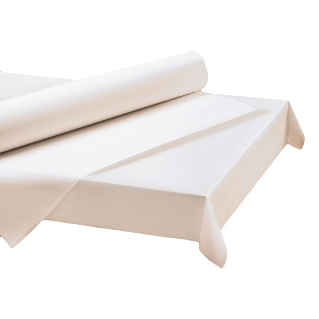 "Hoffmaster White 40""x300' Paper Roll Table Cover 260045"