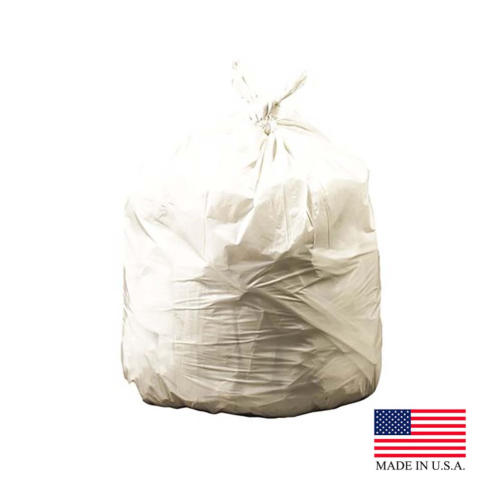 "Revolution Bag Natural 40-45 Gallon 40""x46' .85   Mil Plastic Can Liner On A Roll PC46XPN"
