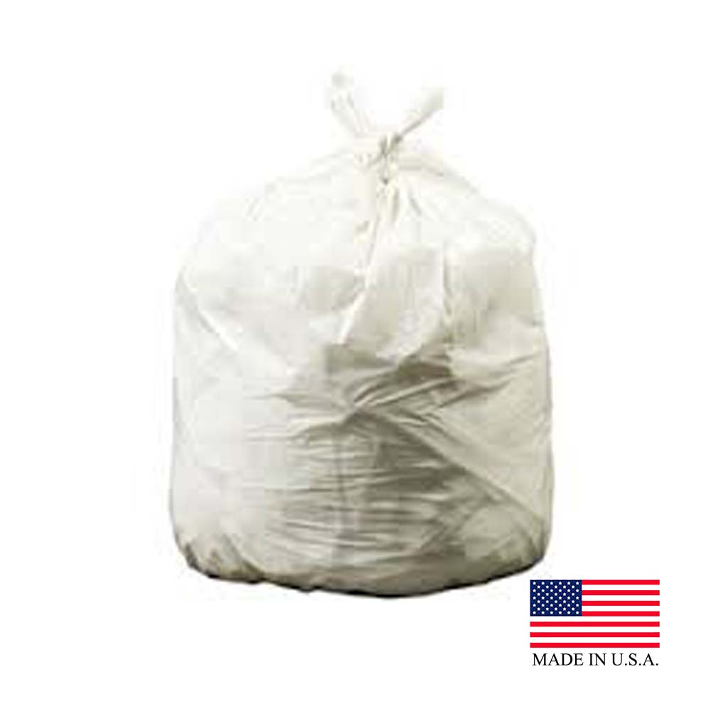 "Revolution Bag Natural 12-16 Gallon 24""x32' .30   Mil Plastic Can Liner On A Roll Environmental"