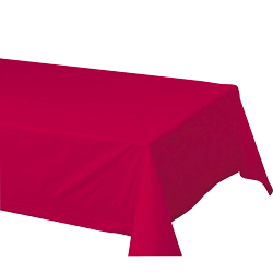 "Hoffmaster Red 54""x108"" 2ply Cellutex Tissue Table Cover 220611"