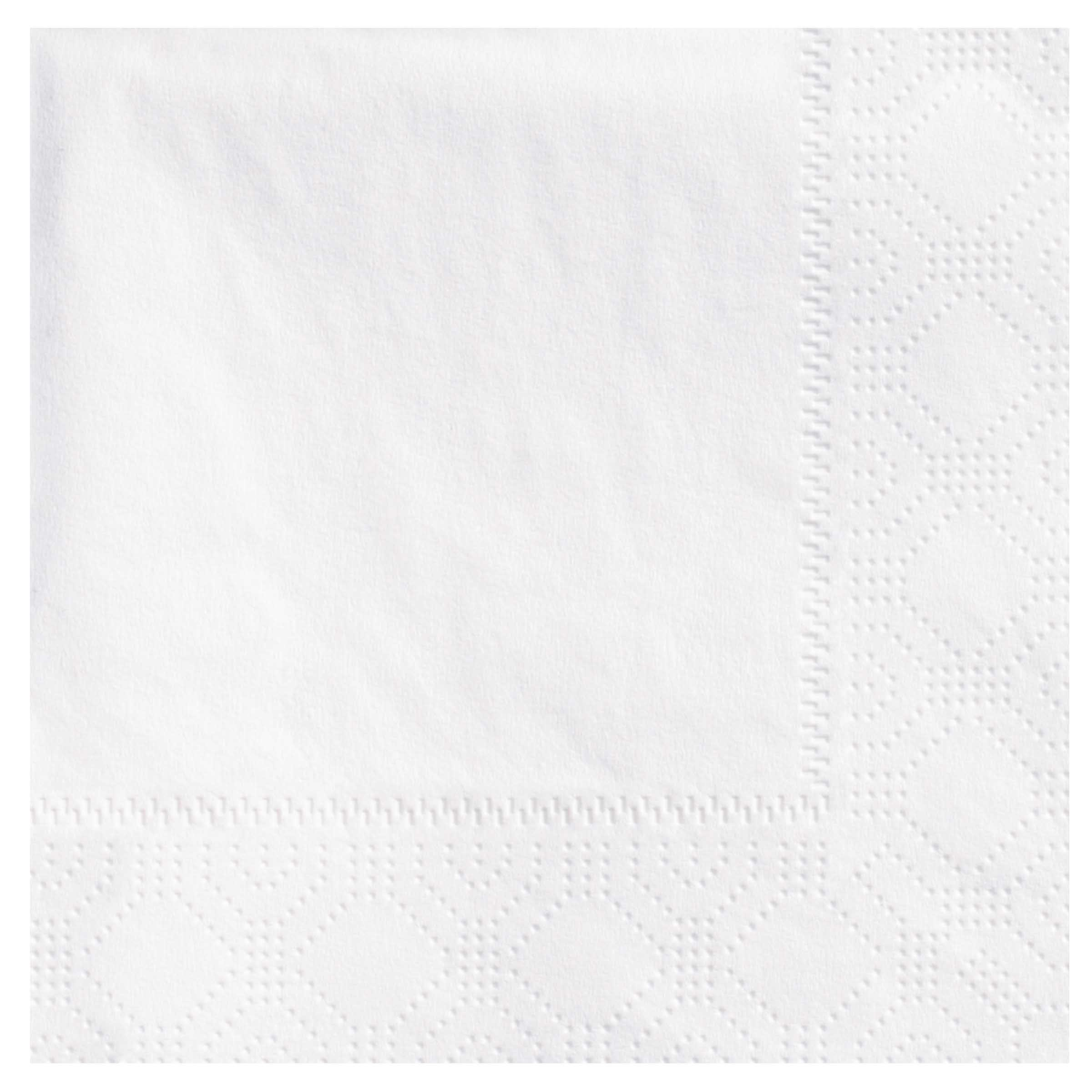 "Hoffmaster White Oak Leaf Embossed 10""x10"" 2ply   1/4 Fold Beverage Napkin 180330"