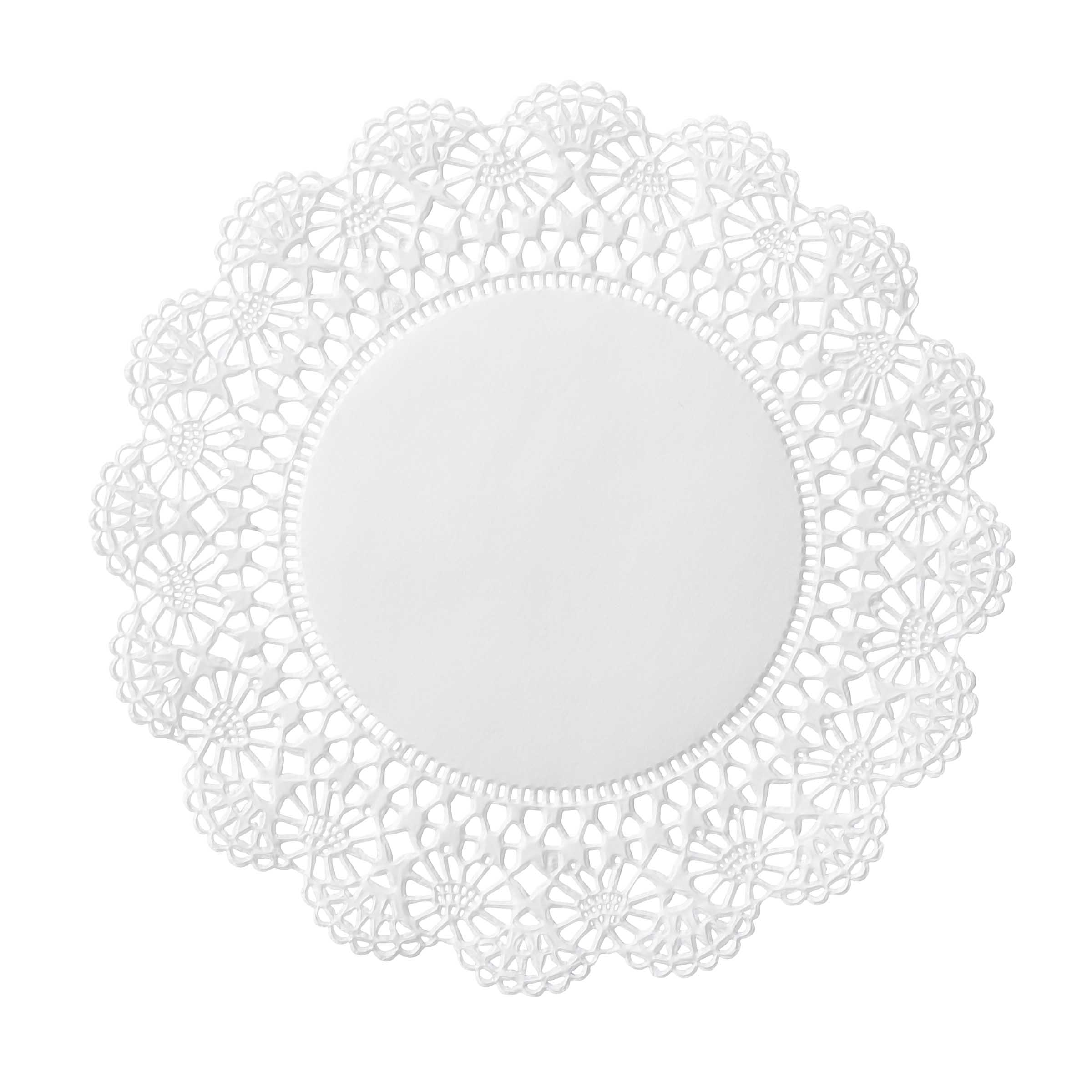 "Hoffmaster White 6"" Cambridge Lace N Linen Doilies 500235"