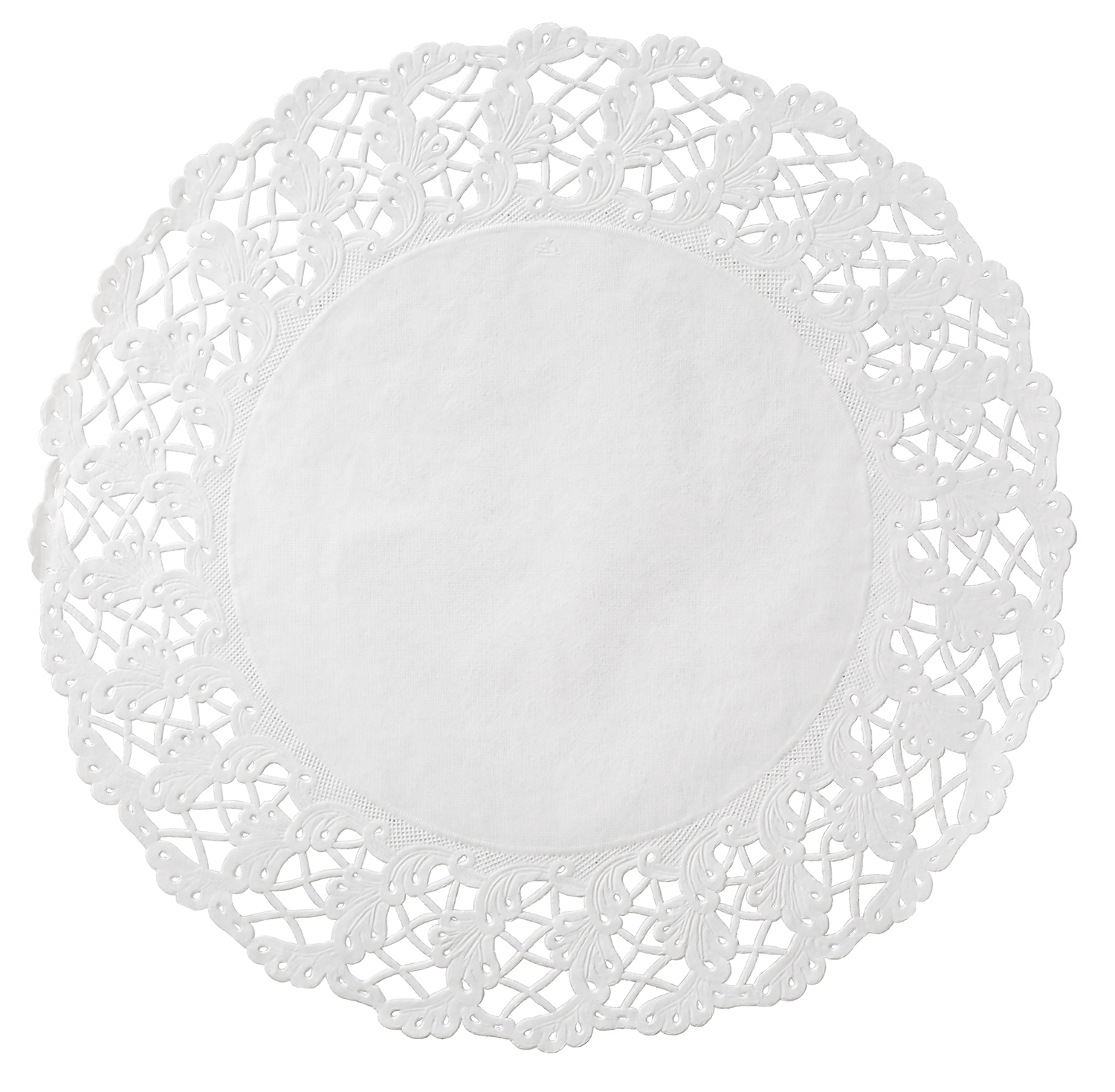 "Hoffmaster White 14"" Cambridge Lace N Linen Doilies 500259"