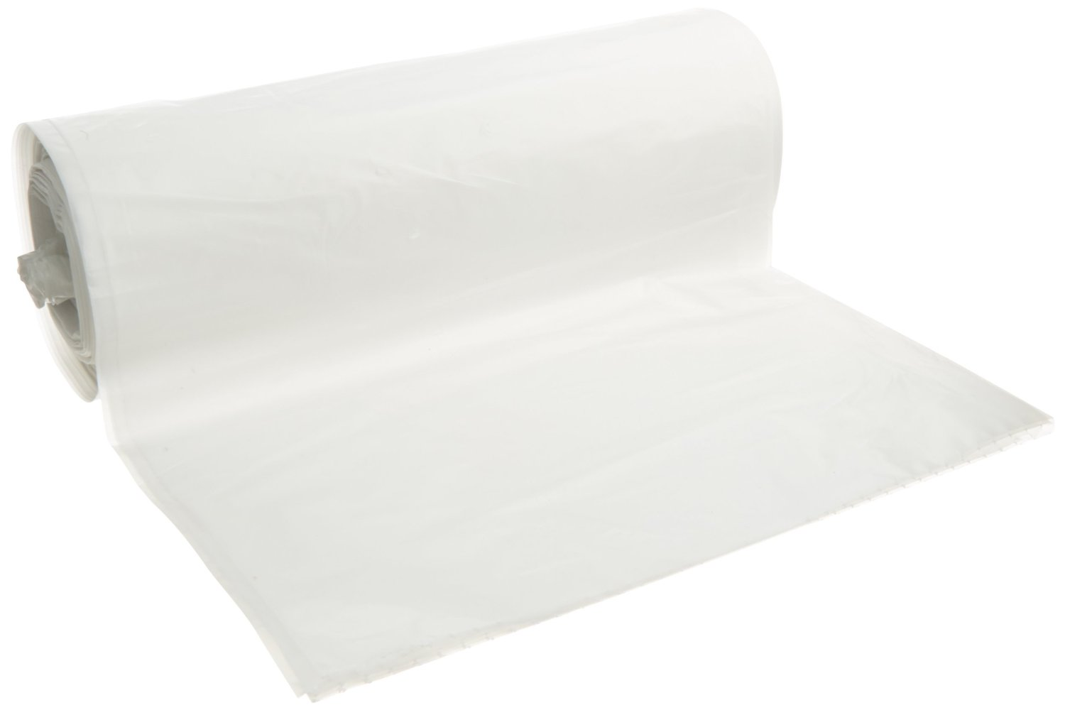 "Berry Plastics Clear 60 Gallon 38""x58' 1.5 Micron Can Liner On A Roll LBR3858X3C"