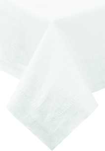 "Hoffmaster White 72""x72"" 2ply Poly Tissue Table Cover 210066"