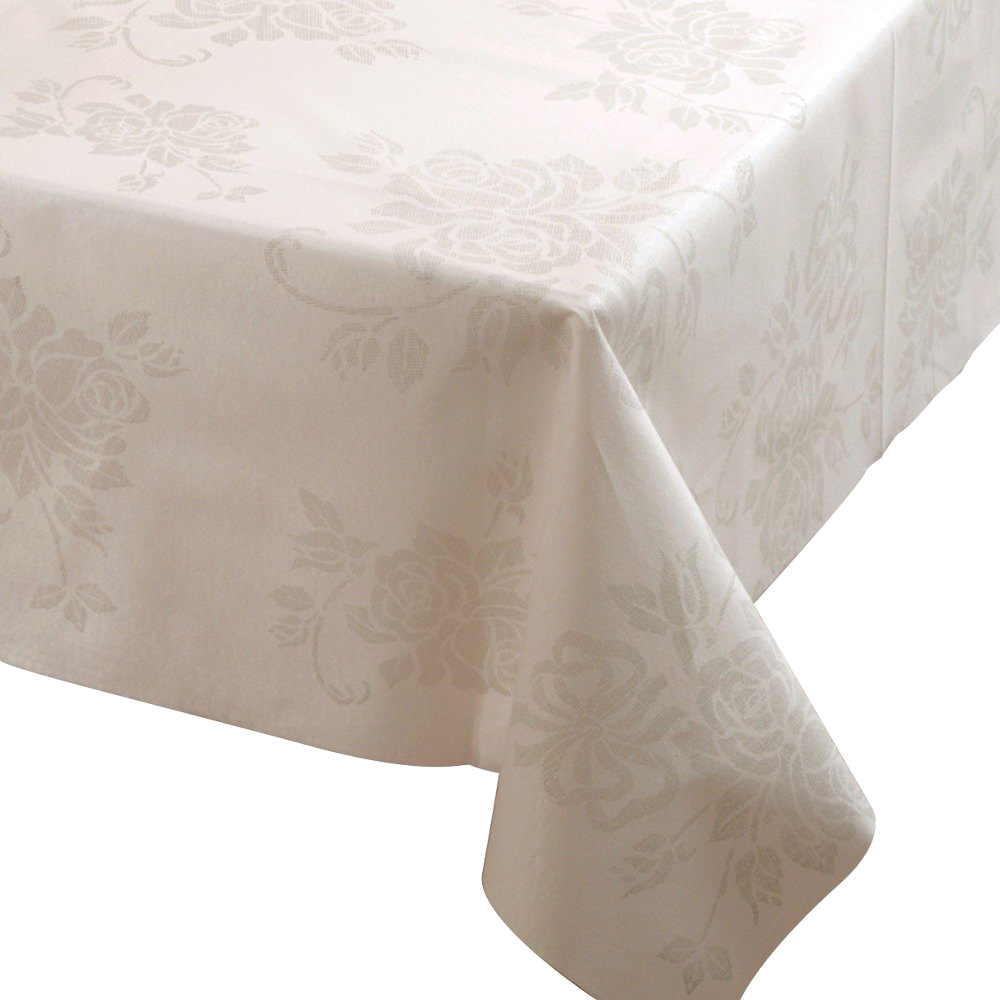 "Hoffmaster Silver 50""x108"" Linen Like Table Cover 236410"