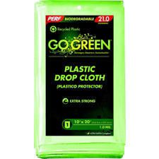 Perf Go Green Green 10'x20' Plastic Painters Drop Cloth DC1020
