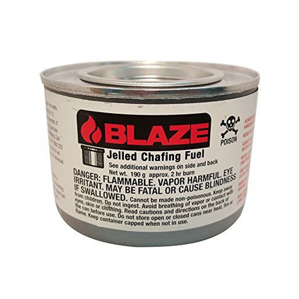 Blaze Products 2hr Blue Methanol Jelled Chafing Fuel GB100l