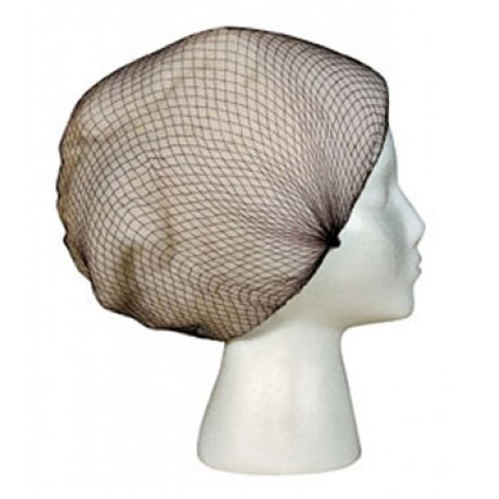 "Cellucap - Brown 24"" Polyester Honeycomb Kornet Hair Net K224HNBR"