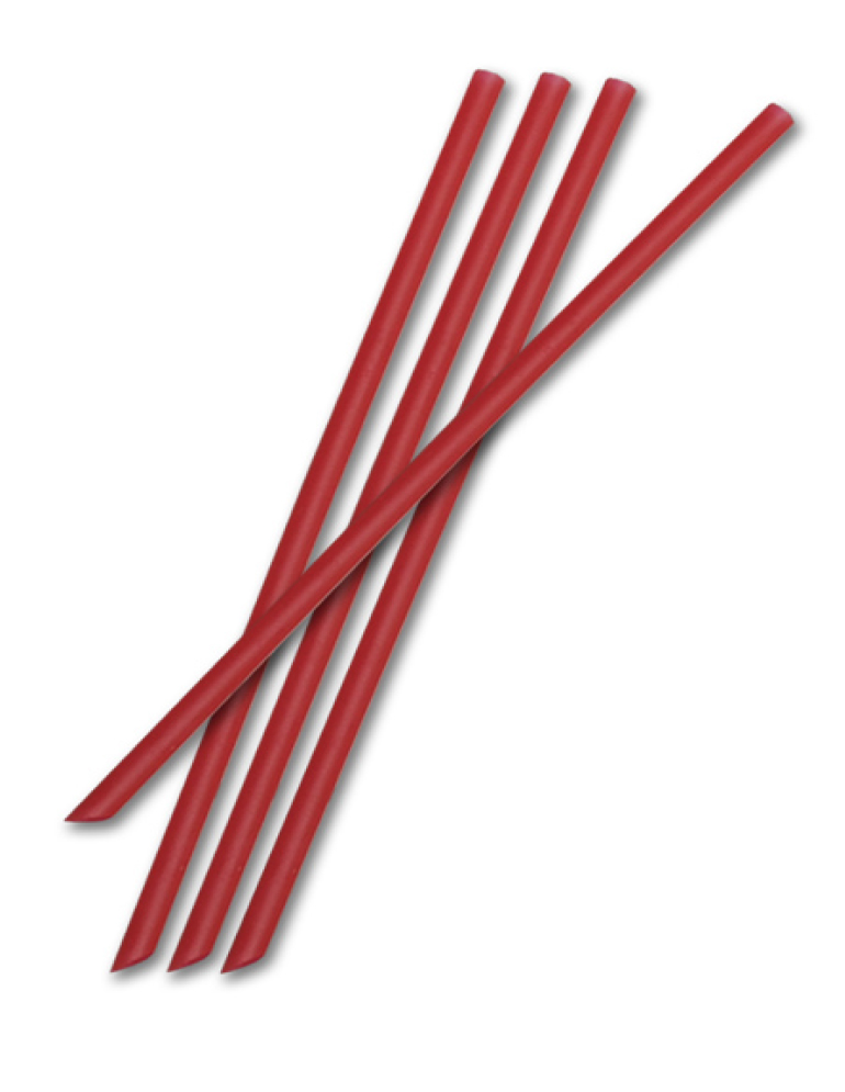 "D&W Fine Pack - Red 5"" Unwrapped Plastic Sip Stick ST5R-10-1000"