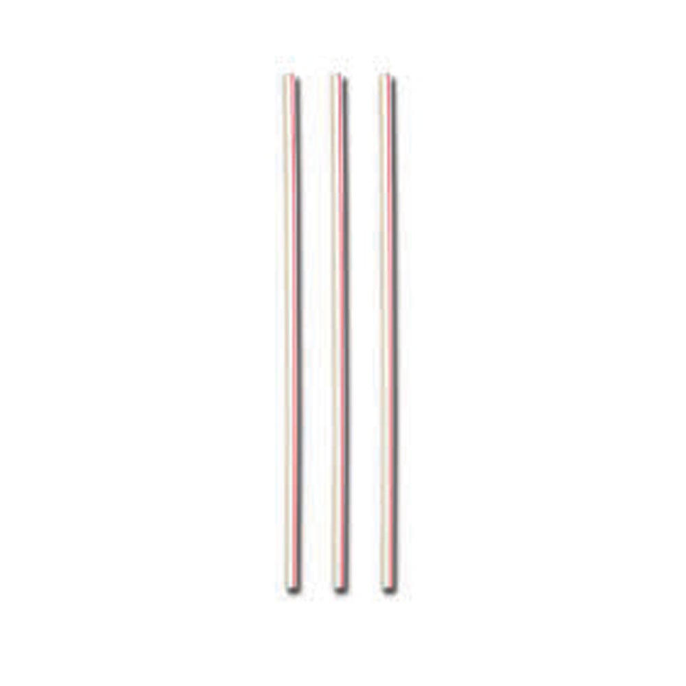 "D&W Fine Pack White & Red 6"" Unwrapped Stirrer ST6S-10-1000"