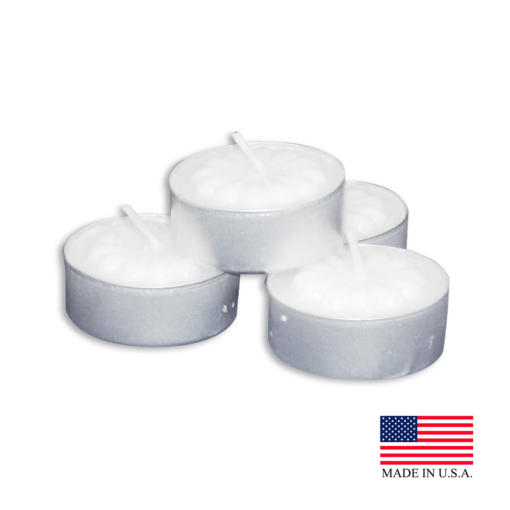 White Aluminum Tea light Candle Cup 505-10-50