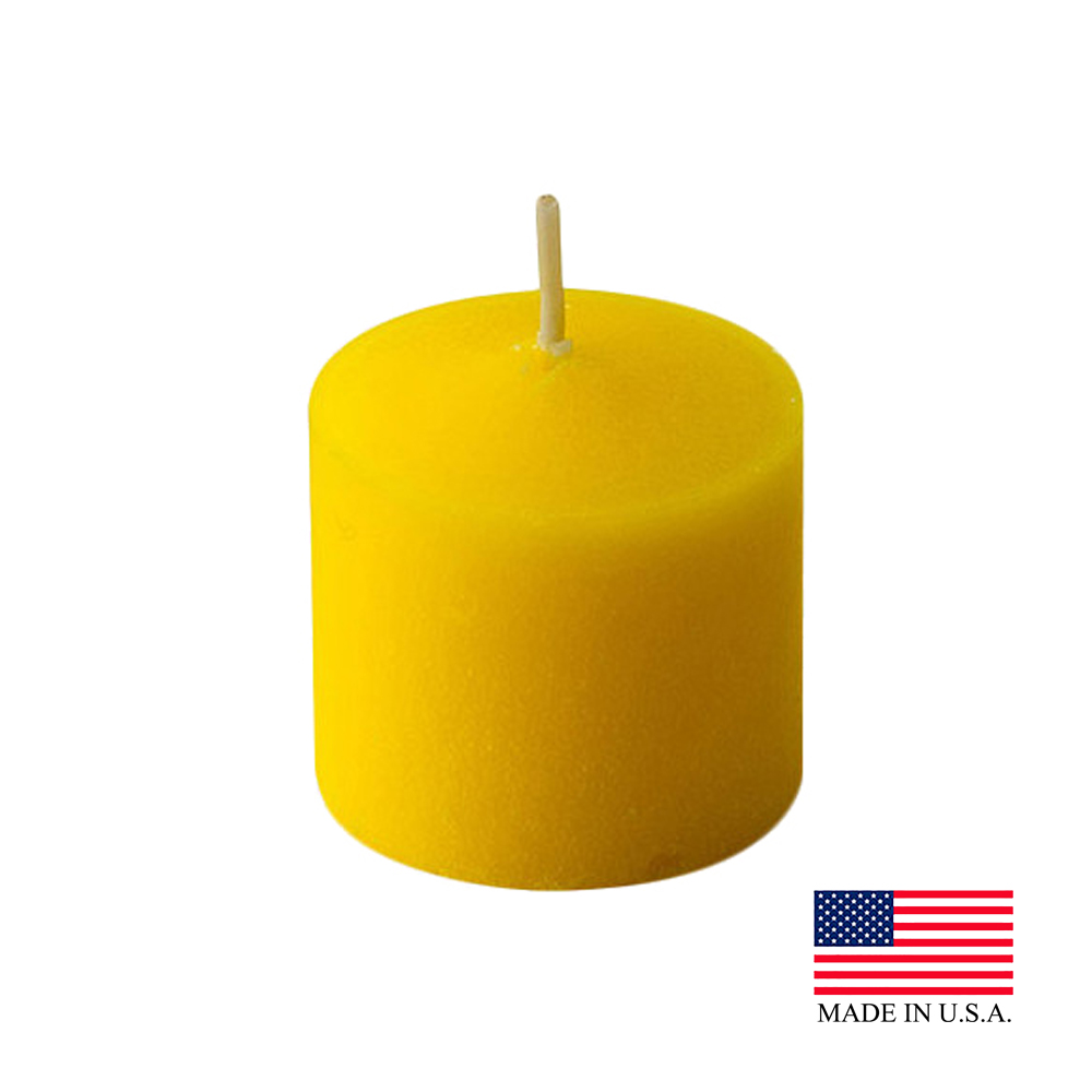 Yellow Citronella Votive Candles 510-72-4C
