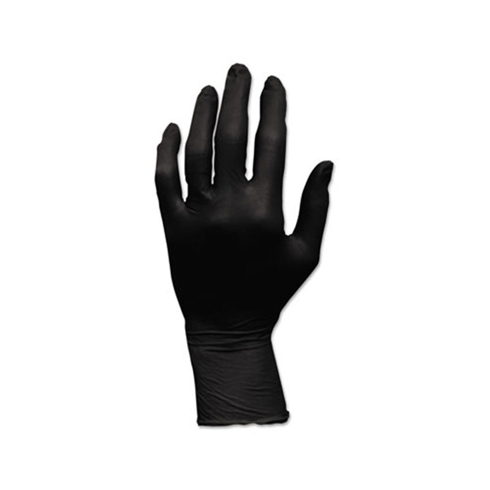Hospeco - Black Medium Powder Free Nitrile Gloves GLN105FM
