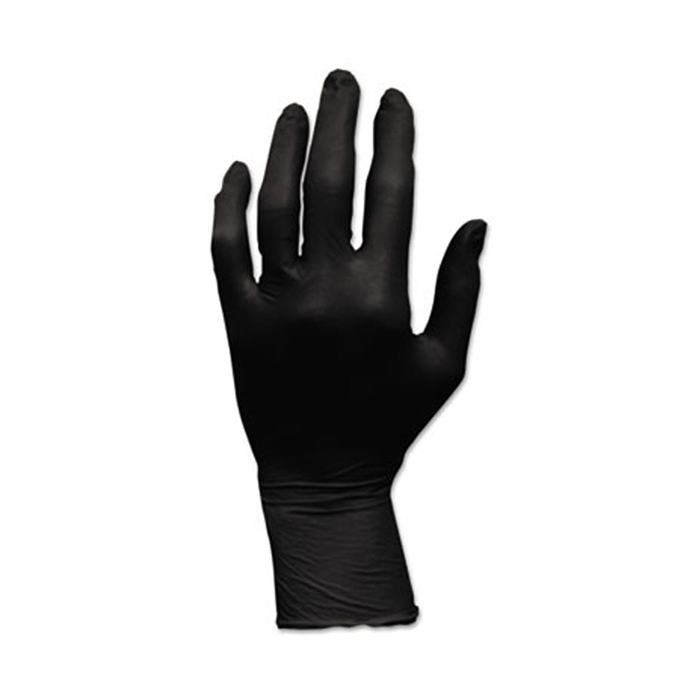 Hospeco - Black Extra Large Powder Free Nitrile Gloves GLN105FX
